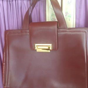 Adrienne Vittadini vintage Kelly style handbag